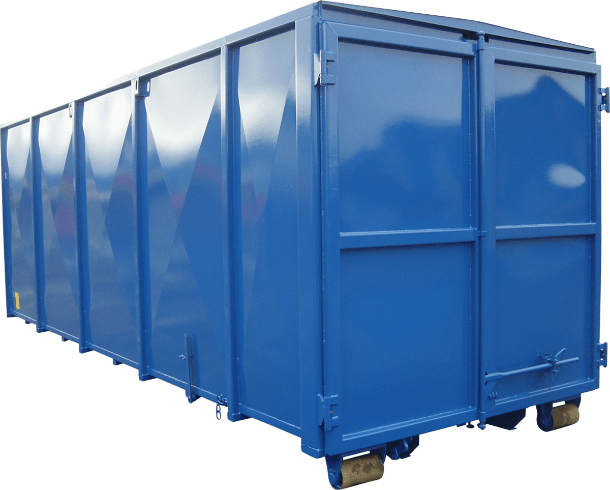 Abroll kontejner s pevnou střechou