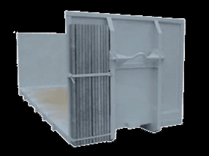 Abroll kontejner-držák s klanicemi