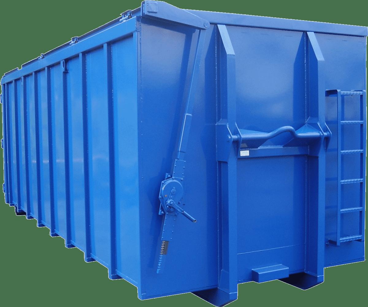 Abroll kontejner se střechou s mechanickým heverem s ností 5 tun