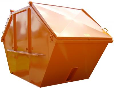 Vanové kontejnery - symetrické provedení s ocelovými víky podle DIN 30720